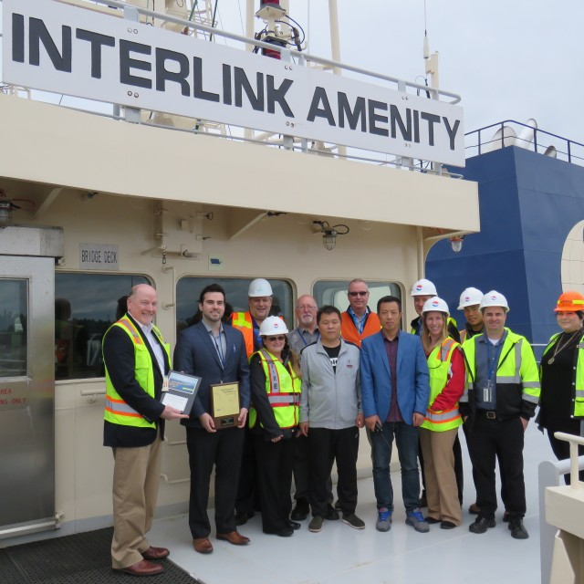 M/V Interlink Amenity calls the Port of Vancouver USA on her maiden voyage